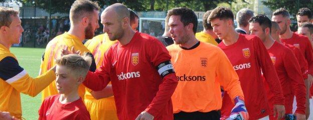 Luke Watson leads Jersey out