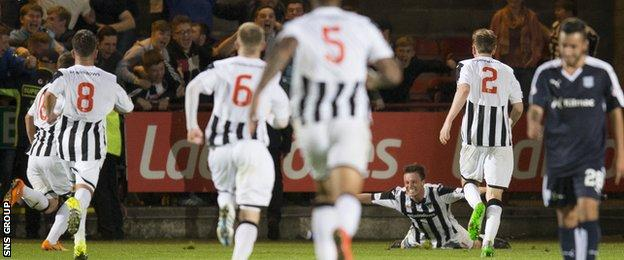 Dunfermline knocked Dundee out in the last round of the League Cup