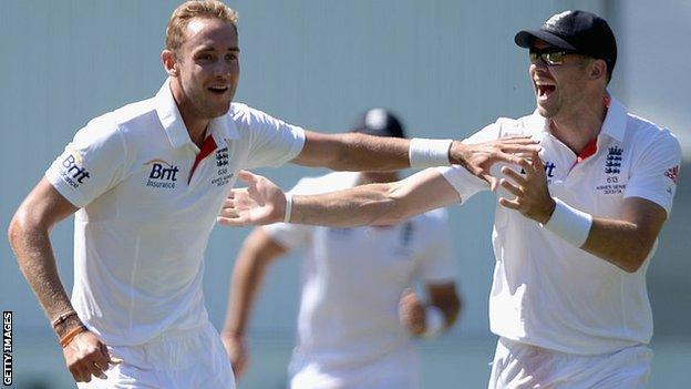 Stuart Broad and Jimmy Anderson