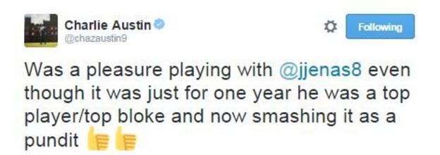 QPR striker Charlie Austin pays tribute