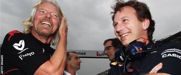 Richard Branson and Christian Horner