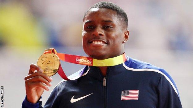 Christian Coleman banned for two years for missing drugs test - BBC Sport