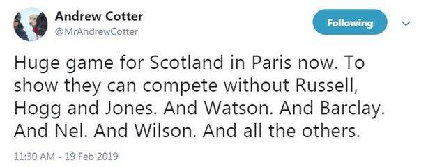 BBC Sport commentator Andrew Cotter