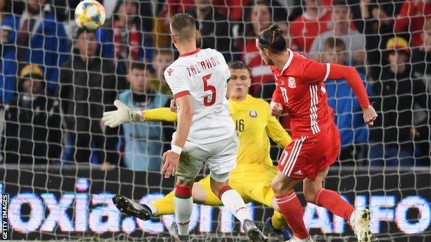 Gareth Bale had two good chances to double Wales' lead after replacing scorer Daniel James