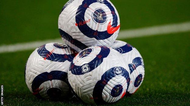 A general image of some Premier League footballs