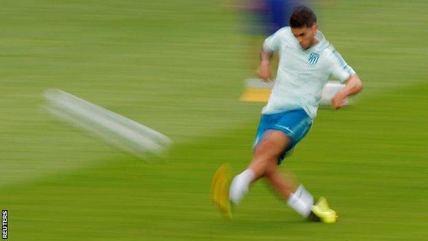 Rodri training for Atletico Madrid