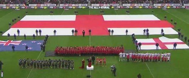 England v New Zealand, Rugby League