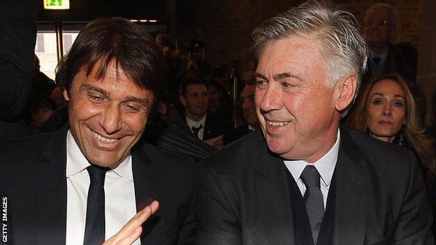 Antonio Conte and Carlo Ancelotti