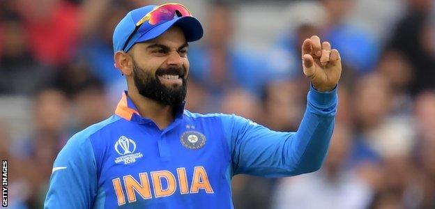 India captain Virat Kohli gestures in the field