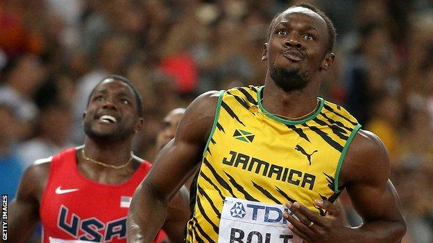 Usain Bolt after edging out Justin Gatlin in the 100m at the recent World Athletics Championships