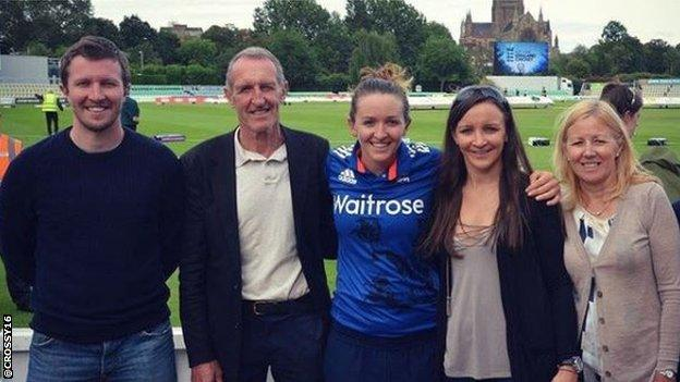 Kate Cross and her family