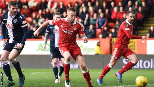Adam Rooney knocked the goal in from close range