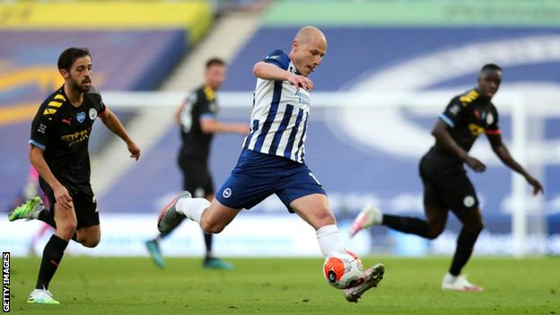 Métis Nation Saskatchewan - Aaron Mooy playing for Brighton against Manchester City