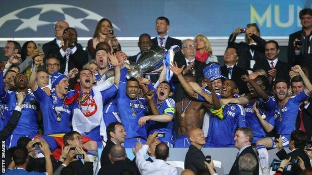 Chelsea beat Bayern Munich to win the Champions League in 2012
