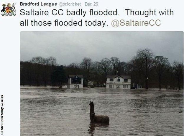 Saltaire Cricket Club in the Bradford League