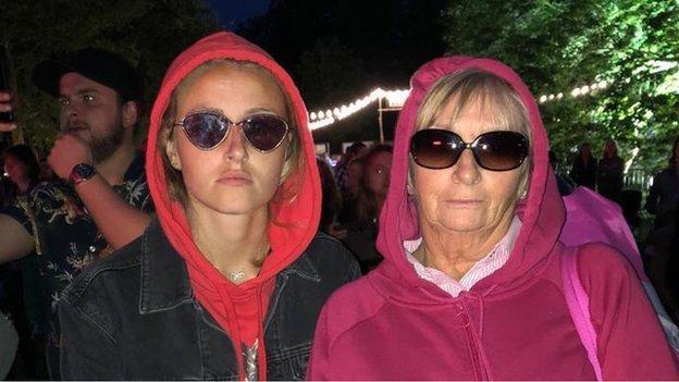 Leah Williamson with Nan