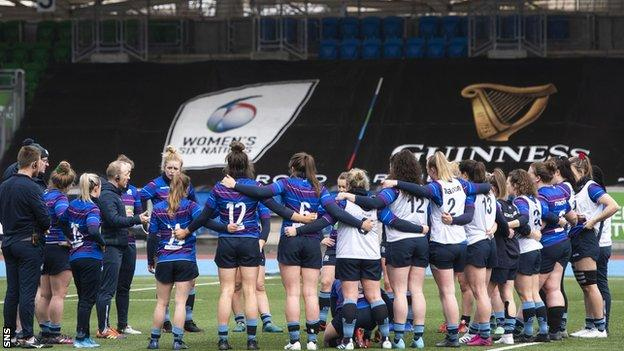 Scotland Women trained at Scotstoun Stadium on Friday before Saturday's match was called off
