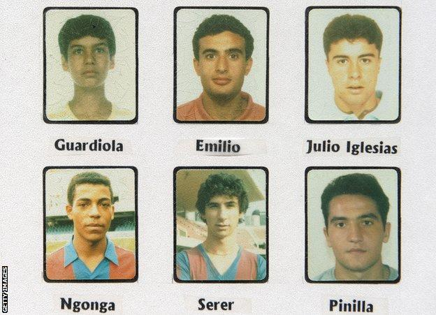 Pep Guardiola and other La Masia youngsters from the 1987-88 season