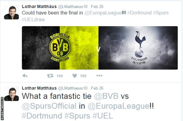 German World Cup winner Lothar Matthaus believes the tie is fit for the final