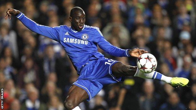 Demba Ba in action for Chelsea
