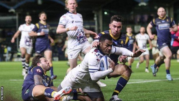 Before his Sixways hat-trick, rugby league convert Siva Naulago had only previously scored one Premiership try for Bristol