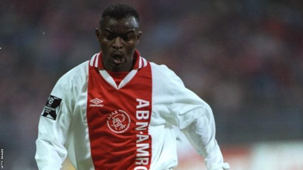 Finidi George in action for Dutch club Ajax