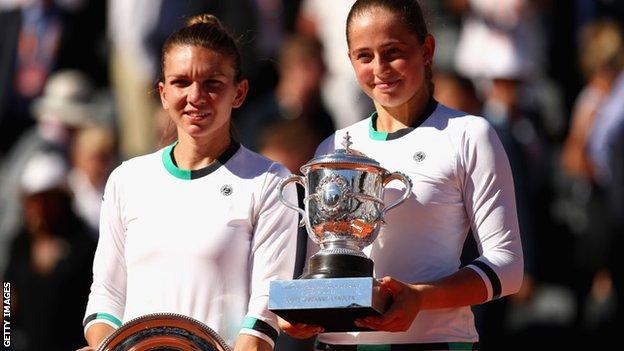 Jelena Ostapenko and Simona Halep