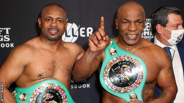 Mike Tyson calls for Roy Jones Jr rematch after heavyweight exhibition draw