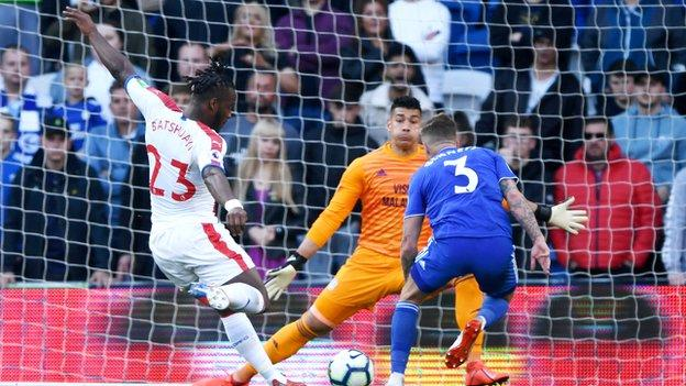 Michy Batshuayi scores for Crystal Palace against Cardiff