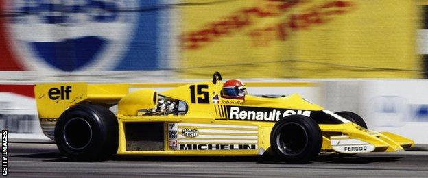Jean-Pierre Jabouille in the 1978 Renault at the United States Grand Prix