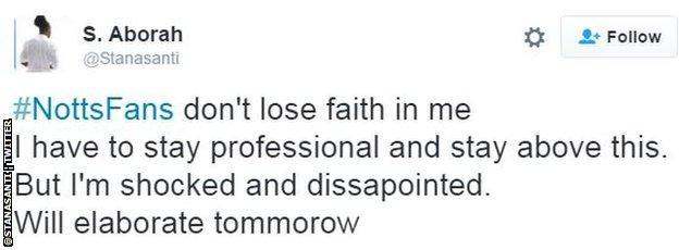 Stanley Aborah tweet