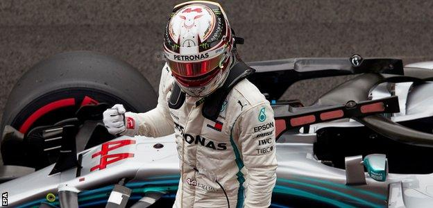 Lewis Hamilton takes pole position for the Spanish Grand Prix