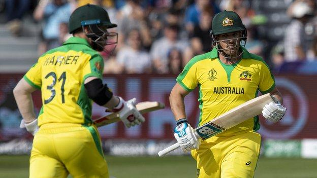 India v Australia: David Warner and Aaron Finch hit tons in 10-wickets win - BBC Sport