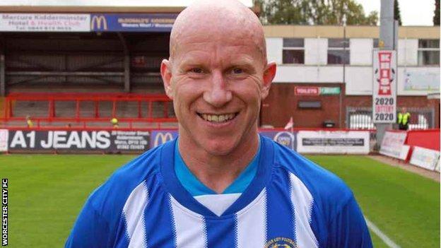 Worcester City striker Lee Hughes
