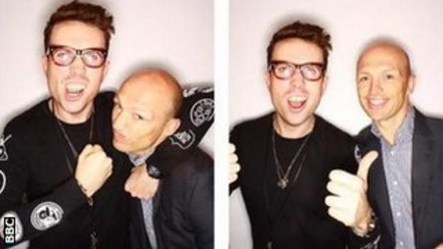 Nick Grimshaw and Matt Dawson