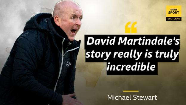 Michael Stewart quote saying Martindale's story is incredible