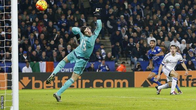 Leicester forward Riyad Mahrez