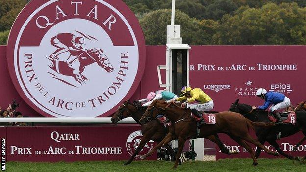 Enable wins the Prix de l'Arc de Triomphe