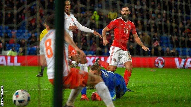 Joe Ledley had missed some of Wales' Euro 2016 qualifying campaign with injury ruling him out against Cyprus, but he was back for Bosnia-Herzegovina
