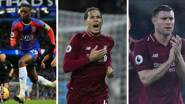 Aaron Wan-Bissaka (Crystal Palace), Virgil van Dijk (Liverpool), James Milner (Liverpool)