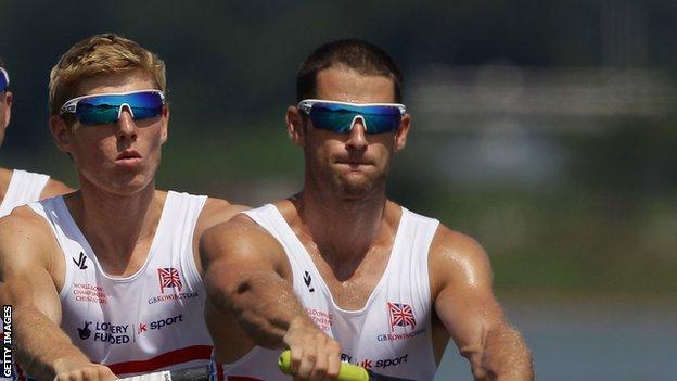 Chris Bartley (right) was a silver medallist at the London Olympics.