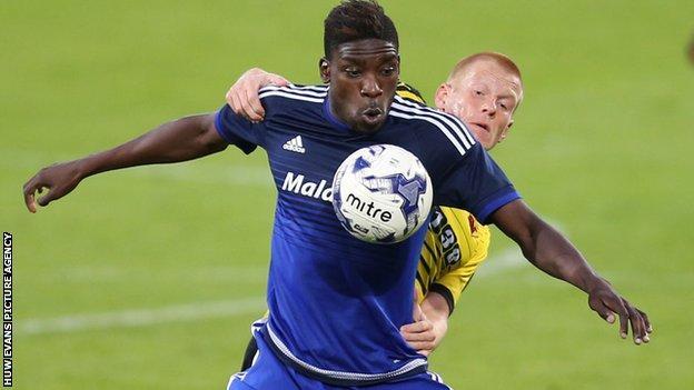 Sammy Ameobi in action for Cardiff City in a pre-season friendly