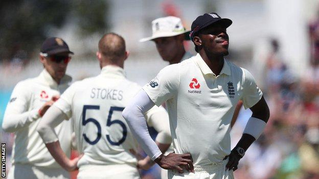 Jofra Archer during the defeat by New Zealand