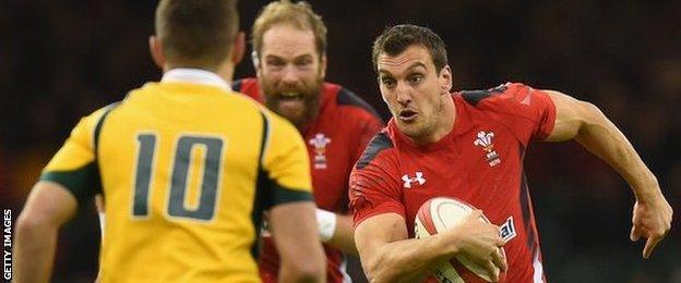 Wales captain Sam Warburton against Australia