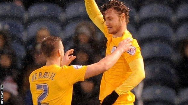Preston striker Will Keane