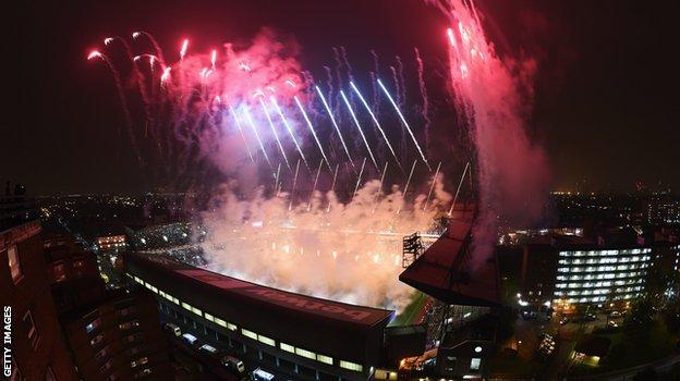 Post-match pyrotechnics mark the end of an an era for West Ham