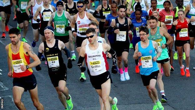 Dublin Marathon action