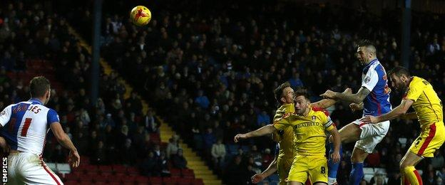 Shane Duffy heads towards goal