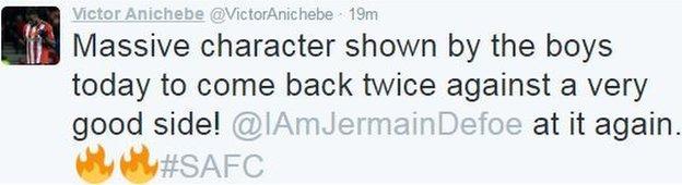 Victor Anichebe tweet