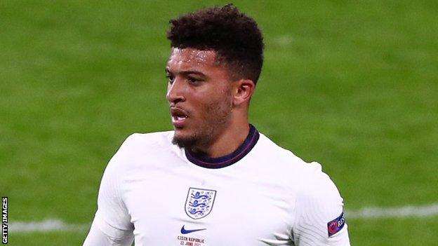Sancho has made one substitute appearance for England at Euro 2020